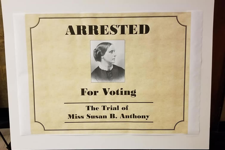 arrested for voting poster