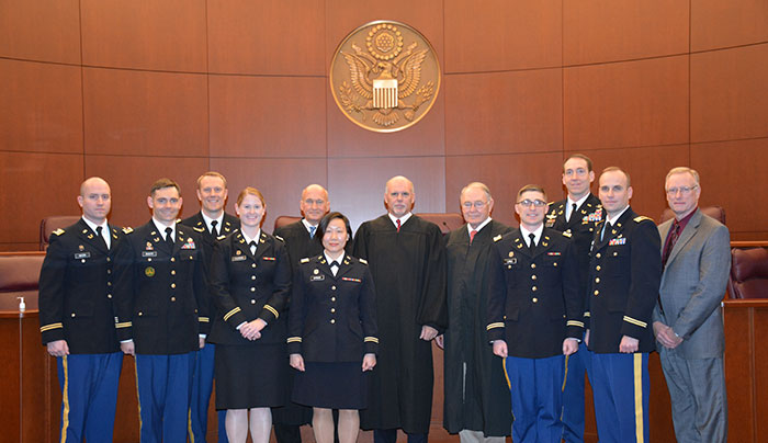 group of judges and JAG officers
